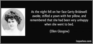 As the night fell on her face Gerty Bridewell awoke, stifled a yawn ...