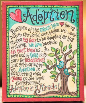 Adoption' Tabletop Canvas