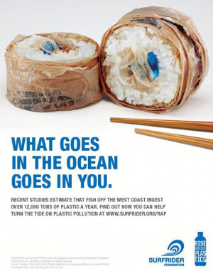 ... to raise awareness about the dangers of plastic pollution of the seas