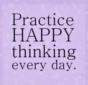 happy thoughts = #Patience = #happiness