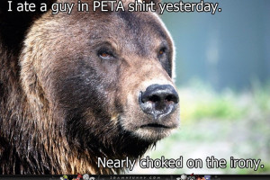 Bear Eats A Terrible Tasting PETA Man