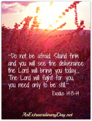You are here: Home › Quotes › Awesome verse!! Exodus 14:13-14. So ...