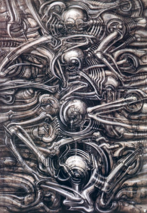 Biomechanical Landscape I by H. R. Giger