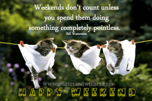 funny happy weekend quote Funny Happy Weekend quote by Bill Watterson ...