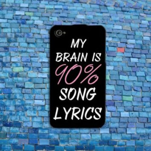 Cool Brain Song Music Cute Funny Quote Phone Case Cover iPhone 4 4s 5 ...