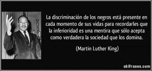 La discriminación de los negros está presente en cada momento de sus ...