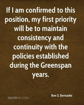 If I am confirmed to this position, my first priority will be to ...