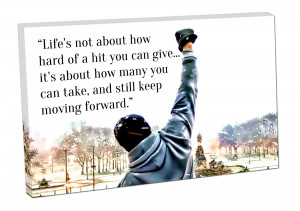 Rocky Balboa boxing QUOTE Life's not about how hard of a hit you ...