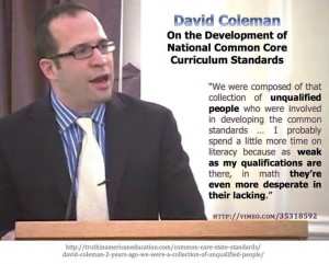 David Coleman is unqualified, his words