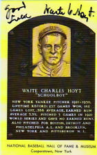 WAITE HOYT AUTOGRAPHED HALL OF FAME HOF PLAQUE NEW YORK YANKEES ...