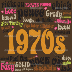 1970s phrases and slangs - Stock Illustration