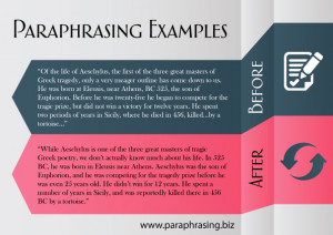 paraphrasing examples