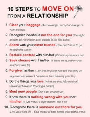 10 Steps to Move on from a Relationship Image on Social Network Site