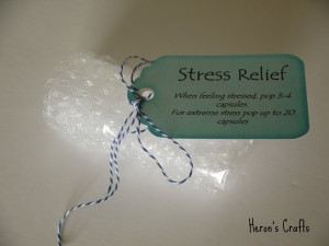 Stress Relief Capsules (aka Bubble wrap) - this is a bit of a joke ...