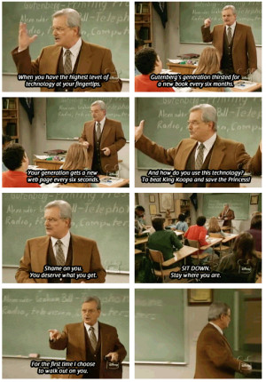 Mr. Feeny Handing Out Life Lessons In Class, Boy Meets World