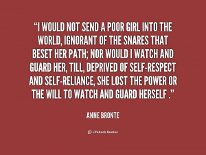 ... ignorant of the snares that bese... - Anne Bronte at Lifehack Quotes