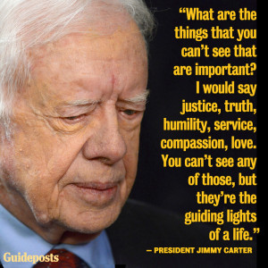 Photo of President Jimmy Carter, with Life quote