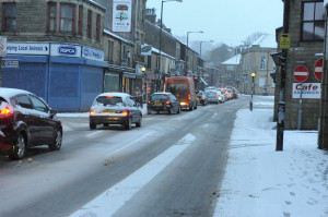 ... showers and icy conditions cause traffic chaos across East Lancashire