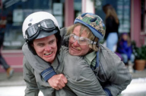 ... lloyd on his sweet sweet scooter in the movie dumb and dumber