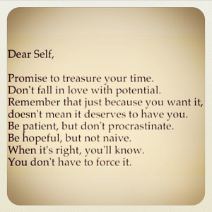 You are here: Home › Quotes › Dear Self life quotes life hope life ...