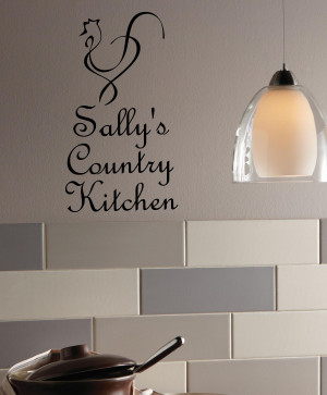 Custom Country Kitchen Wall Decal Item