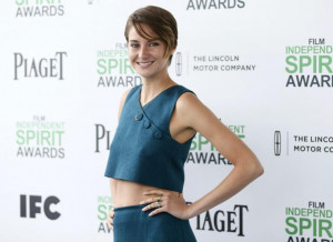 Shailene Woodley at the 2014 Film Independent Spirit Awards, which was ...