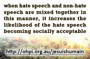 Mixing hate and non-hate speech