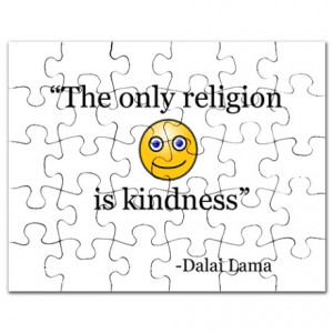 Aum Gifts > Aum Toys > DALAI LAMA QUOTE KINDNESS Puzzle