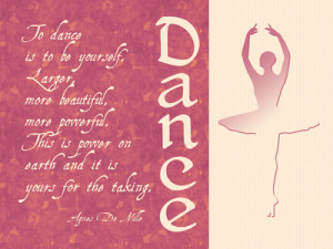 ... dance and inspire a fellow dancer with a beautiful dance quote ecard