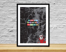 ... Unique gift, Cool wall art, Rock n roll, Quote, Grungy, Inspire, Skull