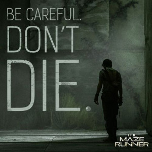 Maze Runner' promotional images feature quotes from the book