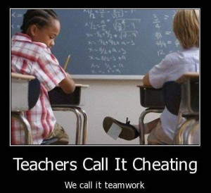 Speaking of exams, here's one more point-of-view on cheating