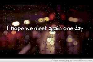 Hope We Meet Again