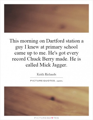 This morning on Dartford station a guy I knew at primary school came ...