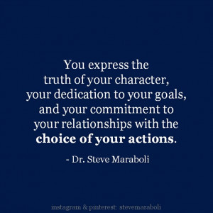 of your character, your dedication to your goals, and your commitment ...