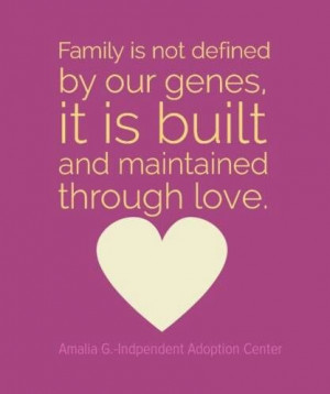 Family love Adoption