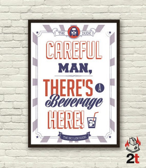 The Big Lebowski Movie Quote Poster Digital por 2ToastDesign, $14.95