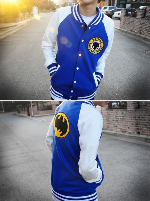 Tagged: WANT WANT!!! batman varsity jacket want korean