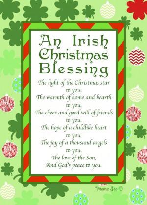 Irish Christmas Blessings Quotes An irish christmas prayer