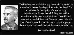 The ideal woman which is in every man's mind is evoked by a word or ...
