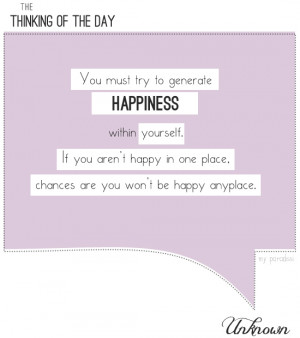 Finding Happiness Within Yourself Quotes Happiness within yourself.