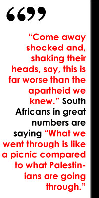 Opposing Apartheid Palestine and the Experience of South Africa