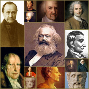 Comte, Hegel, I.Kant, Machiavelli, D.Hume, Aristotle, K.Marx, Hobbes ...
