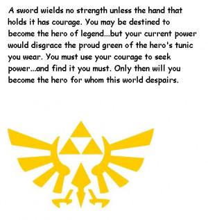 Legend Of Zelda Quote Hero's Shade by crazysonicfan27