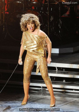 Tina Turner performing in concert at the O2 Arena