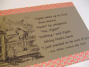 And Pooh Friendship Quotes Piglet Best Friends Kootation
