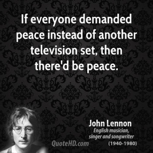 John Lennon Peace Quotes