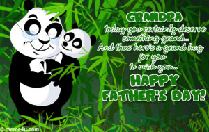 fathers day ecards for grandfather, fathers day hug for grandfather ...