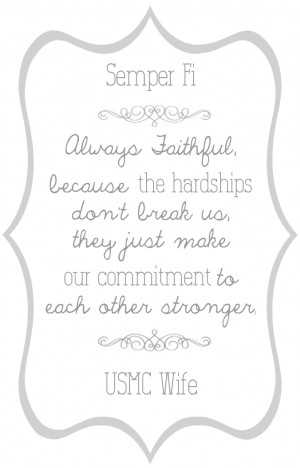 Several Marine Wife & Marriage Printables!