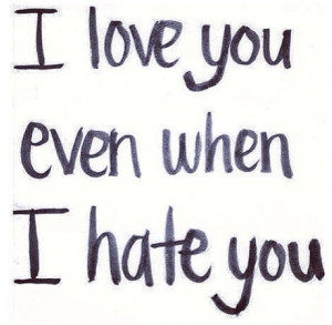 Hate how much I still love you...